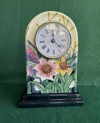 Old Tupton Ware Summer Bouquet Mantel Clock. • 5.60£