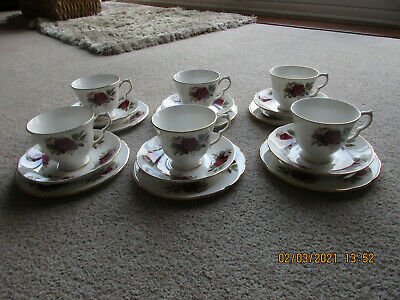 Queen Anne Pretty Red Rose Teaset Afternoon Tea • 7.50£