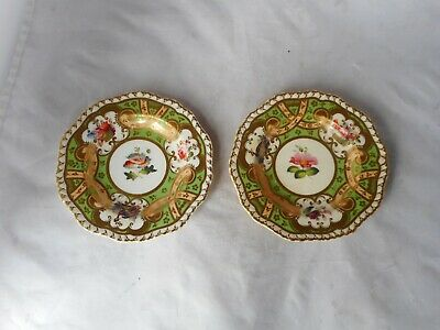 TWO SMALL 19thc PORCELAIN WALL PLAQUES(11cms Diameter) • 5.50£