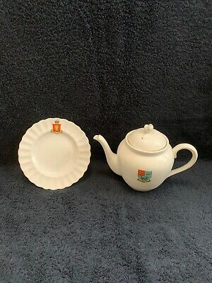 Tuscan China Teapot And Plate • 5£