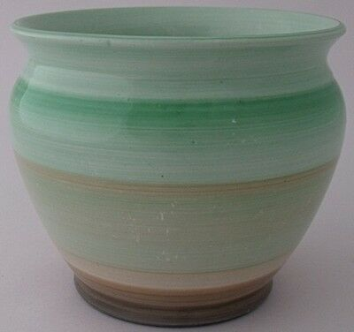Stylish Small Shelley Pot With Banded Design - Art Deco • 28£
