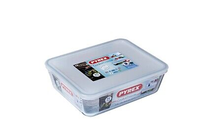 1.5L Rectangular Pyrex Dish With Plastic Lid Oven And Microwave Safe • 11.30£