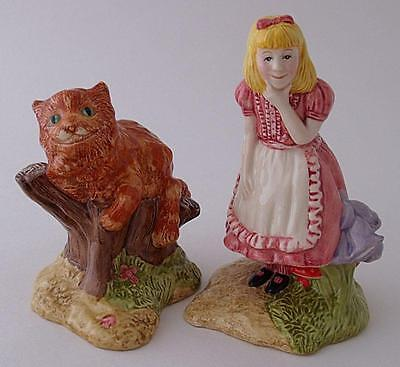 Beswick Alice In Wonderland And Cheshire Cat Figures - Limited Edition • 39£