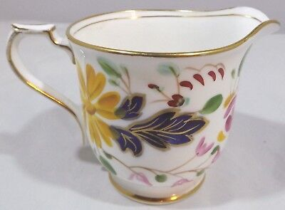 Antique Victorian Hand-Painted China Cream Jug With Gilt Highlights • 40£