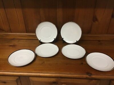 Thomas China Medallion White And Silver 6 Side Plates • 10£