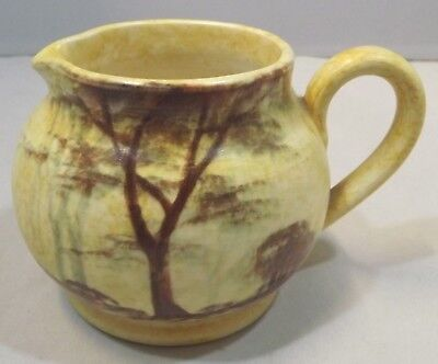 Vintage 1930s Edward Radford Pottery Jug - 'Trees' Pattern By James Harrison • 35£