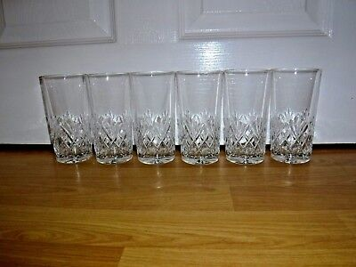 Set Of 6 Galway Crystal ORANMORE Hi-Ball Glasses ~ Excellent ~ Signed • 59.99£