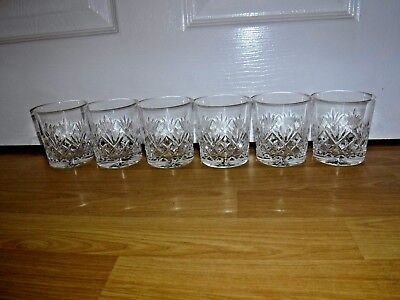 Set Of 6 Galway Crystal ORANMORE Whisky Glasses ~ Excellent ~ Signed • 59.99£