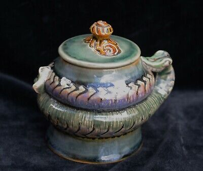 Doulton Lambeth Lidded Pot With Snake Coiling Around Ex. Harriman Judd Coll'n • 720£