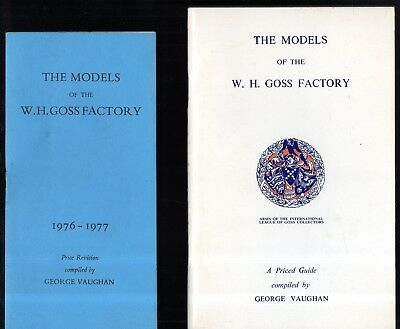 Two Priced Catalogues : The Models Of The W H Goss Factory 1975 - 1977 : Vaughan • 4.95£
