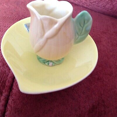 Pretty Royal Winton Small Thistle Dish + Small Cabbage Handle Jug QUIRKY  • 15£