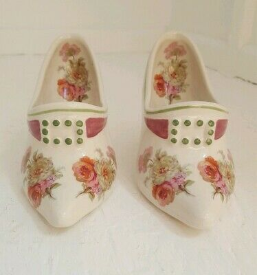 Royal Winton Pottery - Pair Of Ornamental Decorative Shoes • 16.99£