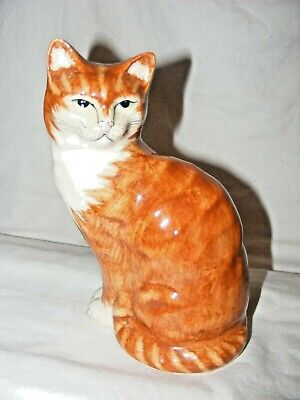 Pottery Babbacombe Brian Lowndes Pateman Pottery Cat Figurine Ginger Torquay • 54.99£