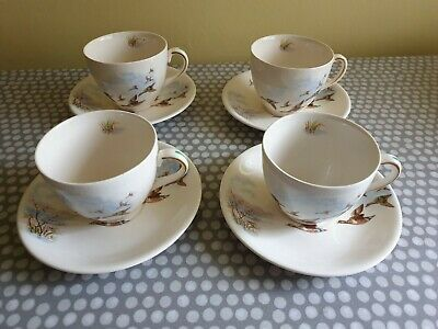 Rare Alfred Meakin Flying Ducks Cup & Saucer X 4 • 18£