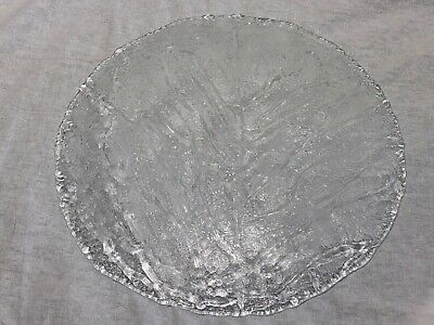 1 Vintage Handmade Italian Round Crackle Art Glass Collectors Bowl Plate  • 120£