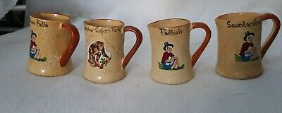VINTAGE 4x SMALL MANOR WARE JUGS 6CM HIGH. • 4.99£