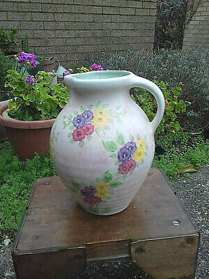 Vintage Radford Hand Painted Ceramic Large Fower Jug  Made In England • 38£