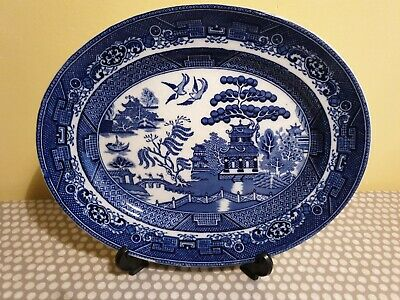 Adderley  Old Willow Ware  Oval Serving Platter  • 12£