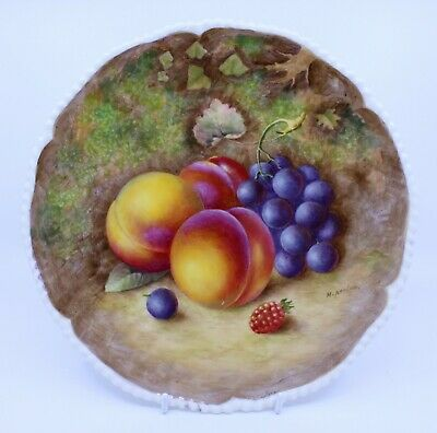 Worcester Fruit Plate Hand Painted By Harry Ayrton • 250£