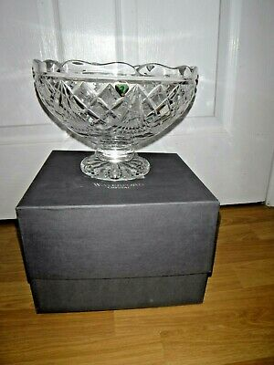 Waterford Crystal Large Bowl Dish Large Edison Centre Piece Irish Crystal BOXED • 125£