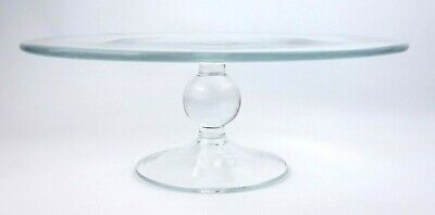 LSA International Clear Glass Cake Stand Hand Made 30.5 Cm • 14.99£