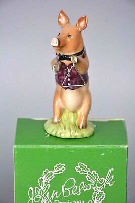 Beswick James Triangle Player, Novelty Pig, Boxed, Band Musician • 28£