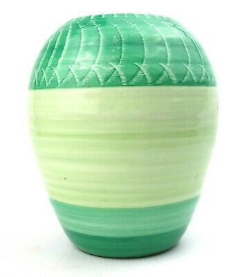 Vintage Shelley Vase Green Ribbed Shape 976 1925-45 • 39.99£