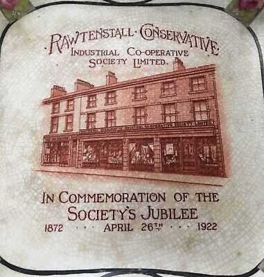 Antique 1872-1922 Plate Rawtenstall Conservative Industrial Cooperative Society • 19.99£