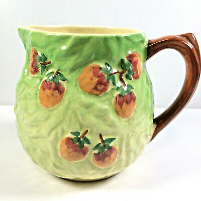 Large Vintage Jug Pitcher Majolica Style Grapes Strawberries Shorter And Son Ltd • 26£