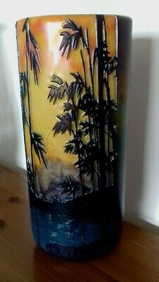 Okra Sunset Lake Cameo Vase No 4 Of 5 From 2005 • 750£