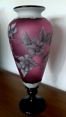 Okra Footed Cameo Vase By Richard Golding And Terri Colledge • 1,495£