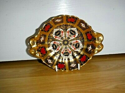 Royal Crown Derby 1128 Imari Twin Handled Acorn Footed Dish ~ 1st ~ Excellent • 65£