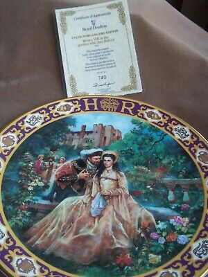 Royal Doulton  Collectors  Limited Edition Plate- Henry V111 And Anne Boleyn • 22£