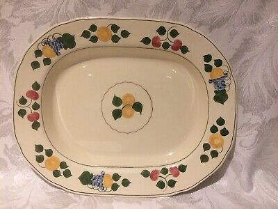 Vintage Adams Royal Ivory Titian Ware Large Platter Hand Painted 'fruits'  • 9.99£