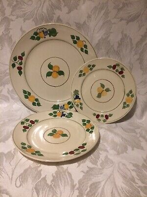 Vintage Adams Royal Ivory Titian Ware Plate Trio Hand Painted 'fruits'  • 12.99£