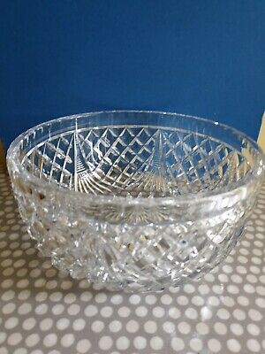 Large Lead Crystal Cut Glass Bowl. Weight 1.59Kg. • 12.99£