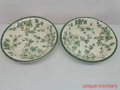 2 X BHS Country Vine Round Vegetable / Serving Bowls • 18.50£