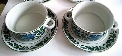 2x Midwinter Stonehenge Caprice Soup Coupes, And Stands, 48 Pieces. Retro Dishes • 7.99£