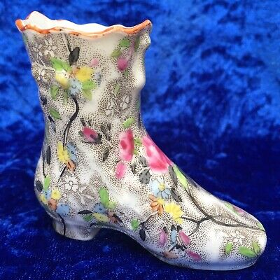 Rare Sampson Hancock & Sons 'Corona Ware' 'Rosetta' Chintz, Small Boot C.1910 • 9.99£