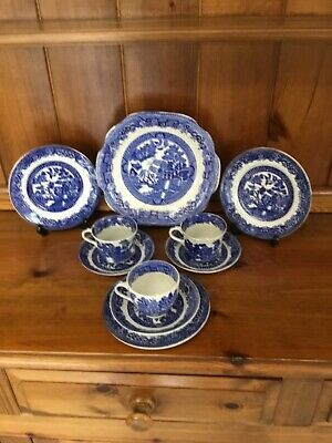 Wedgwood Old Willow Tea Set 10pce • 15£