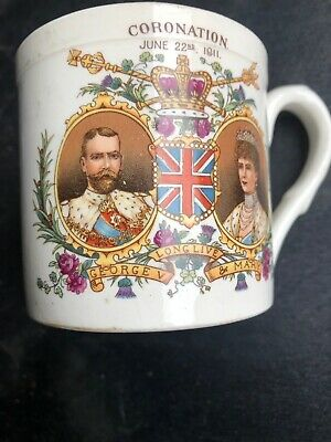 1911 King George V Coronation Shelley Cup County Borough Of Rotherham • 24£