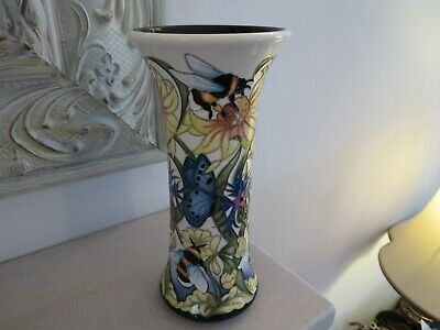 *rare* Moorcroft Bee & Butterfly Vase 159/8 *new Trial* • 210£
