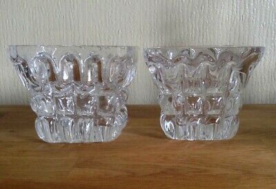 Pair Of Orrefors Square Vases By Sven Palmqvist (eow15) • 22£