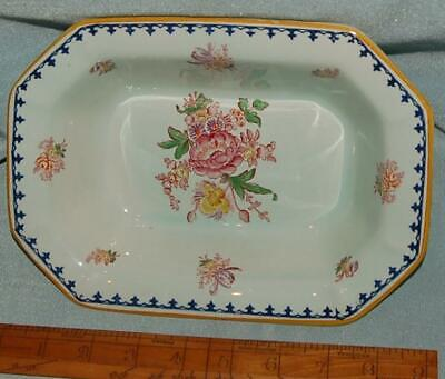Antique Vintage Pottery Rectangular Dish  Adams England Calyx Ware Floral • 5£