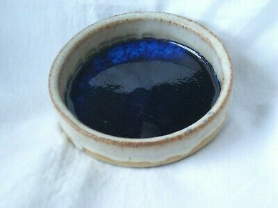 Early Tremar Pottery Cornwall, Dish With Blue Glazed Bottom • 34.99£