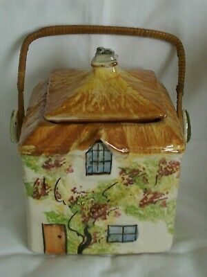 Vintage Torquay / Buckfast / Bovey Pottery Cottage Style Biscuit Barrel  • 17.99£
