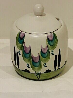 Edward Radford Vintage Pottery Hand Painted Honey Jam Preserve Jar Lid 837   • 14.99£