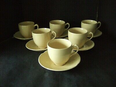 Vintage Johnson Brothers Bros Goldendawn Tea Cups & Saucers X 6 • 14.99£