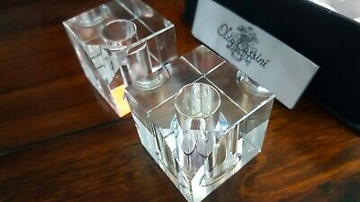 Oleg Cassini Crystal Glass Salt And Pepper Boxed • 5£