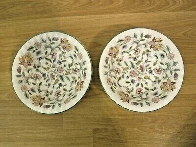 Minton Haddon Hall ~ 2 Dessert Cereal Bowls ~ 1st Quality ~ Excellent • 19.99£